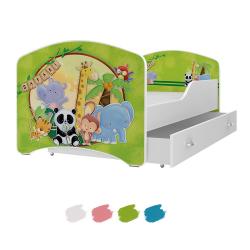 Dětská postel IGOR s motivem SAFARI včetně úložného prostoru