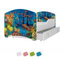 Dětská postel IGOR s motivem NEMO (Mořský svět) včetně úložného prostoru