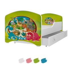 Dětská postel IGOR s motivem DINOSAUŘÍ včetně úložného prostoru