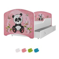 Dětská postel IGOR s motivem PANDA včetně úložného prostoru