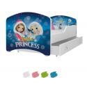 Dětská postel IGOR s motivem LEDOVÉ KRÁLOVSTVÍ (Frozen) včetně úložného prostoru