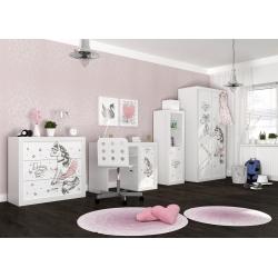 Kompletní dětský pokoj s motivem PONNY (Bílá)
