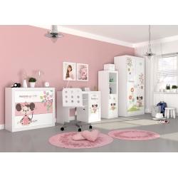 Kompletní dětský pokoj s motivem MYŠKA MINNIE (Bílá)