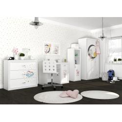 Kompletní dětský pokoj s motivem ŽIVOT SLEČNY MYŠKY (Bílá)