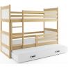 Patrová postel RICO pro 3 osoby (Borovice + Bílá)