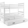 Patrová postel ERYK pro 3 osoby (Bílá)