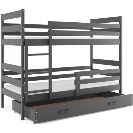 Patrová postel ERYK s úložným prostorem (Grafit)