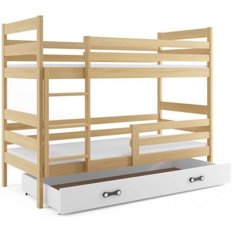 Patrová postel ERYK s úložným prostorem (Borovice)