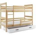 Patrová postel ERYK s úložným prostorem včetně matrací (Borovice)