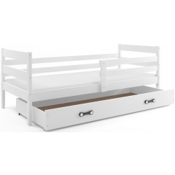 Postel ERYK s úložným prostorem včetně matrace (Bílá)