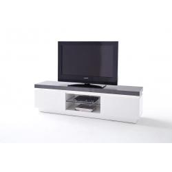 Televizní stolek ATLANTA I (Bílá + Šedá)