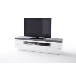 Televizní stolek ATLANTA II (Bílá + Šedá)