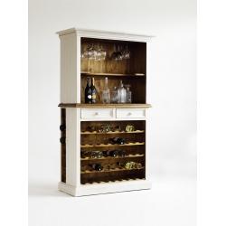 Vitrína BODDE s policemi na víno
