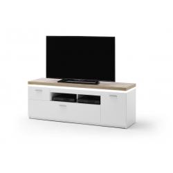 Televizní stolek CALI I (Bílá + Dub)
