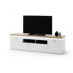 Televizní stolek CALI II (Bílá + Dub)