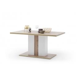 Jídelní stůl CALI (Bílá + Dub)