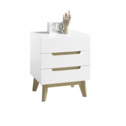 Noční stolek CERVO (Bílá + Dub)