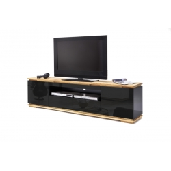 Televizní stolek CHIARO (Černá + Dub)