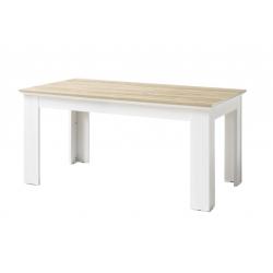 Jídelní stůl CLEVELAND (Bílá + Dub)