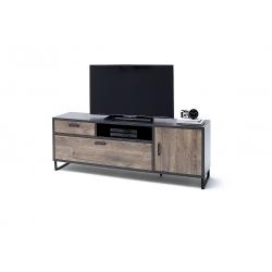 Televizní stolek HALIFAX I (Dub Barrique + Šedá)