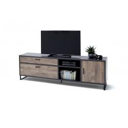 Televizní stolek HALIFAX II (Dub Barrique + Šedá)