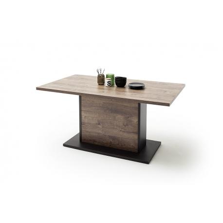 Jídelní stůl HALIFAX (Dub Barrique + Šedá)