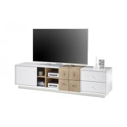 Televizní stolek JAMAIKA I (Bílá + Dub)