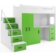 Patrová postel MAX 4 včetně psacího stolu a skříně (různé barvy)