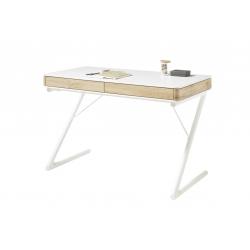 Psací stůl BUKAREST (Bílá + Dub)