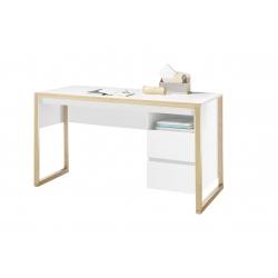 Psací stůl FACIL (Bílá + Dub)