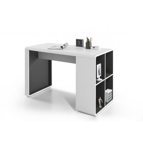 Psací stůl TADEO (Bílá + Antracit)