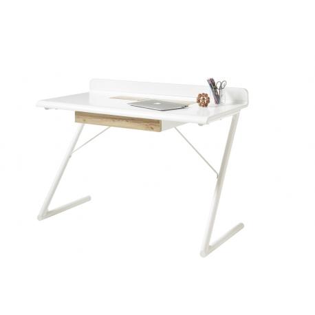 Psací stůl TULA (Bílá + Dub)
