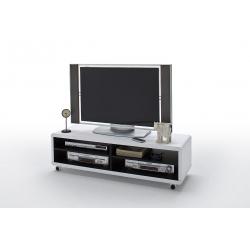 Televizní stolek JEFF II (Bílá + Černá)