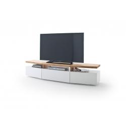 Televizní stolek SOPHIE (Bílá + Dub)