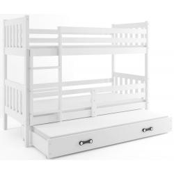 Patrová postel CARINO s přistýlkou včetně matrací (Bílá)