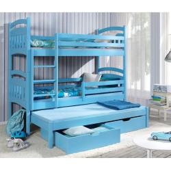 Dětská patrová postel/palanda Jakub III (3 osoby)