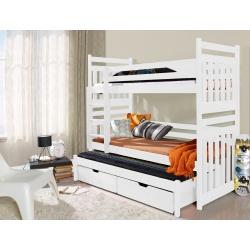 Dětská patrová postel/palanda Sambor (3 osoby)