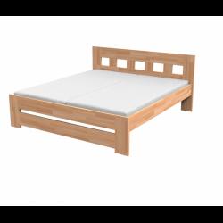 Dvoulůžková postel JANA z masivu (Buk)
