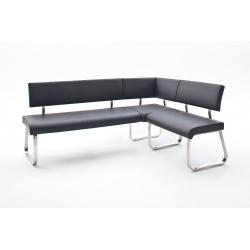 Rohová jídelní lavice ARCO II (Černá)