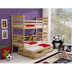 Patrová postel/palanda Tomi (3 osoby)