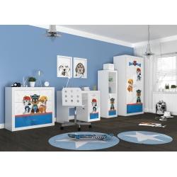 Kompletní dětský pokoj s motivem TLAPKOVÁ PATROLA (Bílá)