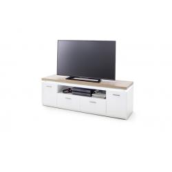 Televizní stolek CALI III (Bílá + Dub)