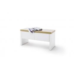 Lavice CALI s úložným prostorem (Bílá + Dub)