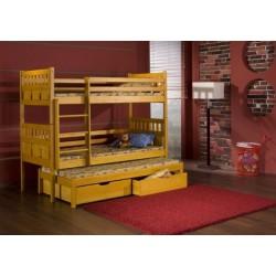 Patrová postel/palanda Maxmilian s přistýlkou (3 osoby)