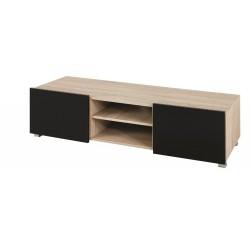 Televizní TV stolek Gordia G RTV 2D (Dub Sonoma + Černá Lesk)