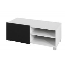 Televizní TV stolek Gordia G RTV 1D (Bílá + Černá Lesk)