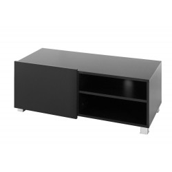 Televizní TV stolek Gordia G RTV 1D (Černá + Černá Lesk)