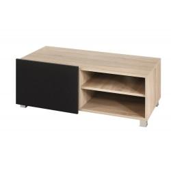 Televizní TV stolek Gordia G RTV 1D (Dub Sonoma + Černá Lesk)