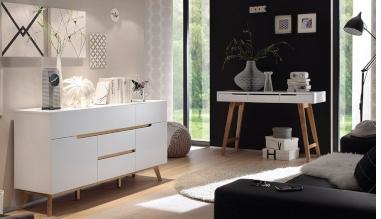 Sektorový nábytek CERVO (Bílá + Dub)