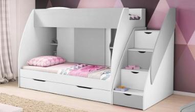 Patrová postel MARCINEK včetně úložného prostoru